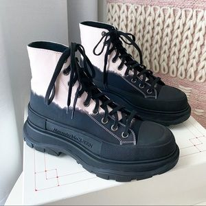 Alexander McQueen Tread Slick Dip Dyed Boots Men's